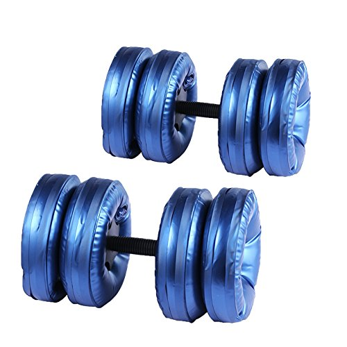 2017 Newest TuTu Fitness Water Filled Adjustable Dumbbells - Perfect Traveling ABS Exercise Equipment For Arm Workout (Set of 2)