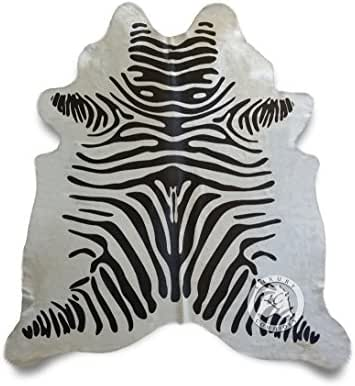 Off White Zebra Cowhide Rug Large 6ft x 7ft 180cm x 210cm from Luxury COWHIDES