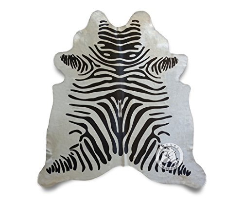 Off White Zebra Cowhide Rug Large 6ft x 7ft 180cm x 210cm from Luxury COWHIDES ()