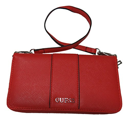 Guess Women's Zip Around Wristlet Wallet Ware Red
