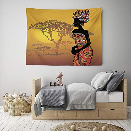 HIYOO Home Nature Art Wall Hanging Fabric Tapestry, Vibrant Colors, Soft to Touch, Decor for Party, Dorm Room, Bedroom,Living Room 60
