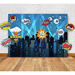 So much fun for a dress-up party! You will be completely blown away by these spectacular superhero-themed backdrop and props. This bundle set will instantly liven up your party setting. Each item is thoughtfully curated by our team of party e...