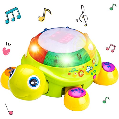 Musical Turtle Toy, Electronic Toys, English N Spanish Learn