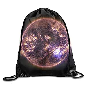 Solar Flare Unisex Athletic Drawstring Backpack Outdoor Backpack Shoulder Bags Gym Bag