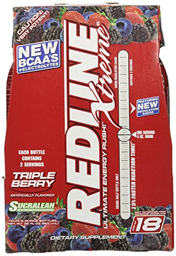 (VPX Sports Redline Xtreme RTD Energy Drink, Triple Berry, 8 oz.  24 Count)