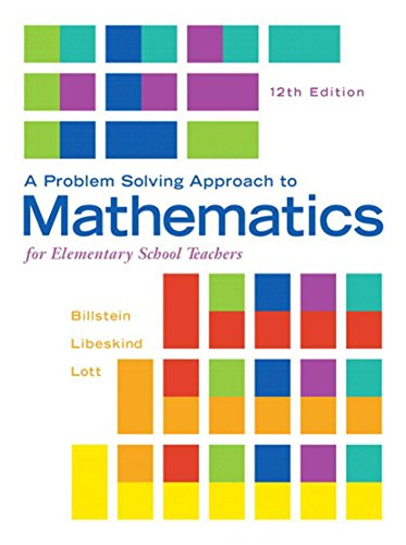Download A Problem Solving Approach to Mathematics for Elementary School Teachers (2nd Edition) Pdf