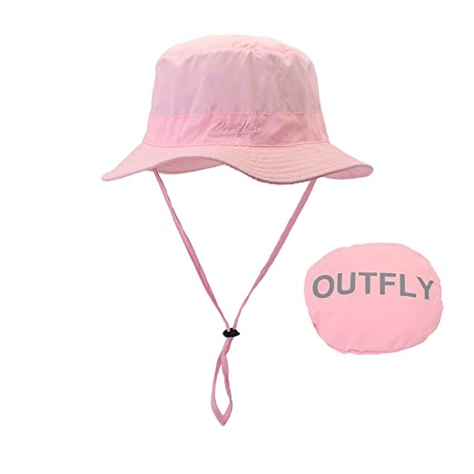 cfe43c774faec Bucket Sun Hat with Chin Strap for Hiking UPF 50+ Pink at Amazon Women s  Clothing store
