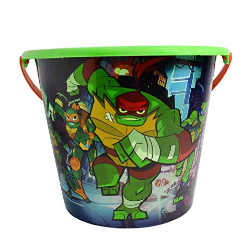 Ninja Turtle Buckets (Kids Jumbo Plastic Pail - Bucket/Basket for Halloween Trick or Treat Party (Ninja)