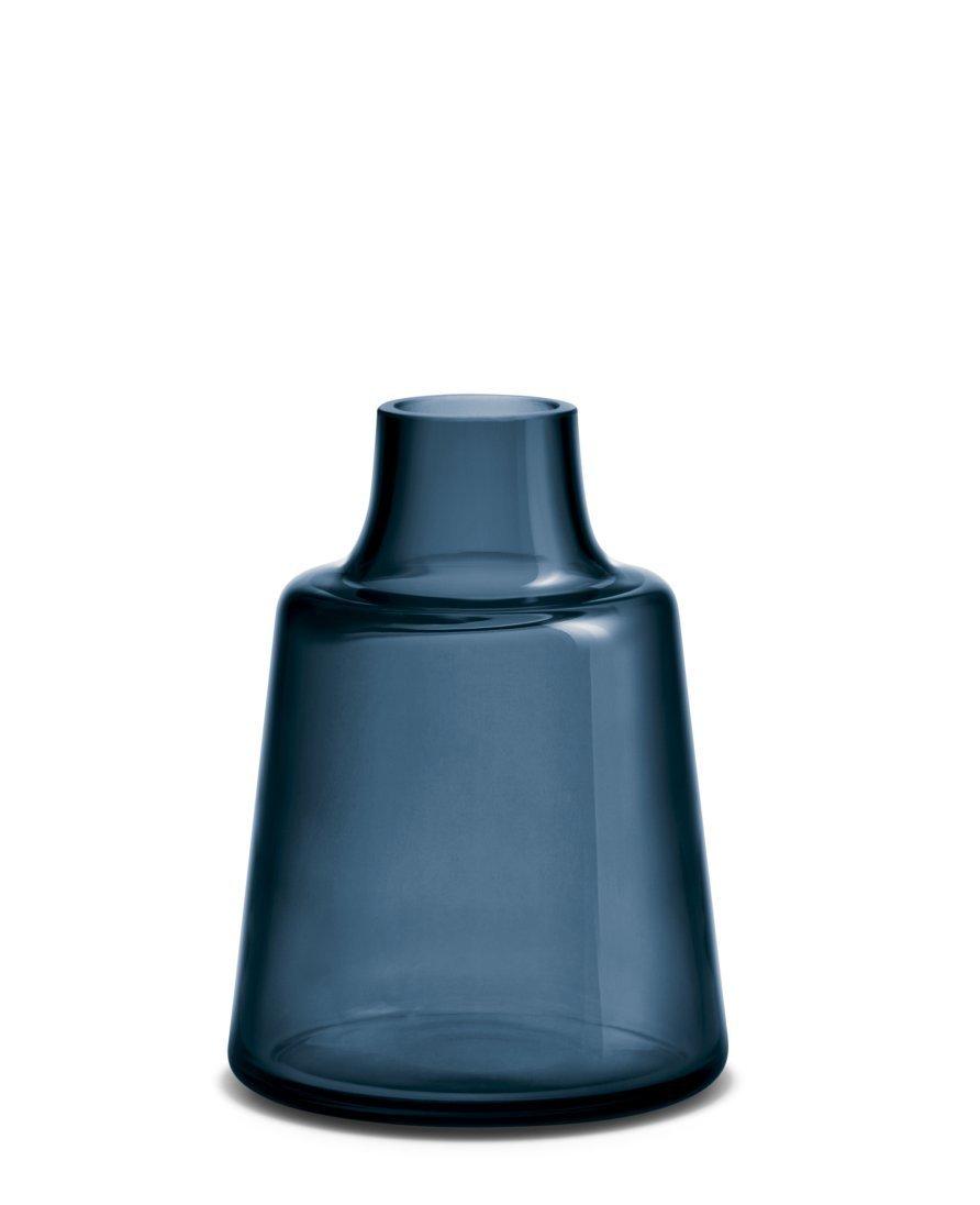 Holmegaard - Vase, Blumenvase, Dekovase - Flora - Farbe  Blau - Höhe  24 cm