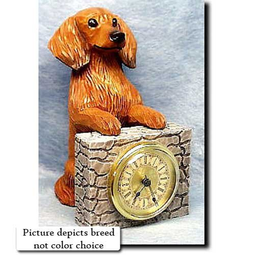 Michael Park BLONDE Dachshund Mantle Clock (Dog Mantle Clock)