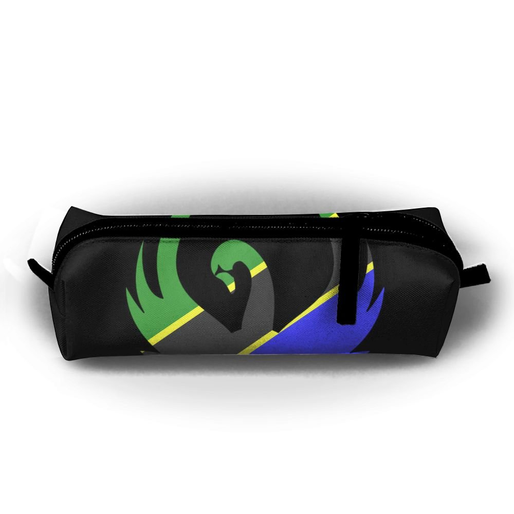 58c47fd93508 hot sale Tanzania Flag Pen Pencil Stationery Bag Makeup Case Travel Cosmetic  Brush Accessories Toiletries Pouch