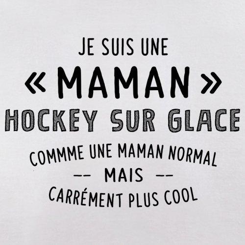 une maman normal hockey sur glace - Femme T-Shirt - Blanc - S