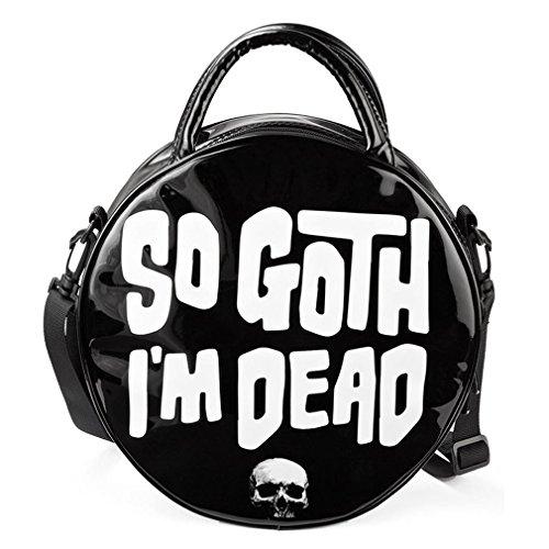 Kill Star gotico–Borsa a mano rotondo–Così Goth I' m Dead borsa a tracolla