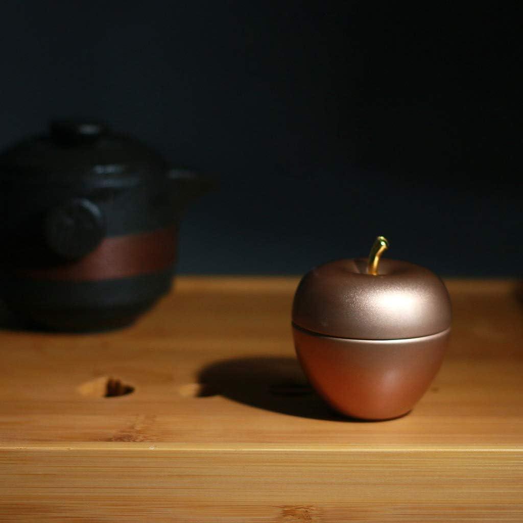 caf/é sucre bonbons GuanjunLI Mini bo/îte de rangement en m/étal avec pomme pour th/é Red