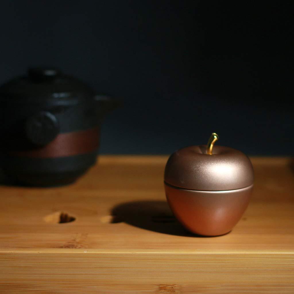 Rtengtunn Mini con Forma de Manzana Suger de t/é de esta/ño Caja de Almacenamiento de caf/é sellada con Caramelo Caja de Metal Contenedor Organizador de Favor de Boda Contenedor Rojo