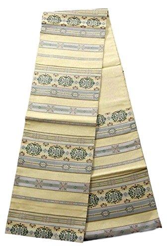 パン屋スリムニックネームリサイクル 袋帯 段文 華文 装飾文様 正絹 六通