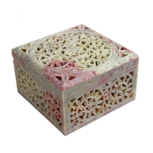 Store Indya Soapstone Jewelry Box Keepsake Storage Organi...