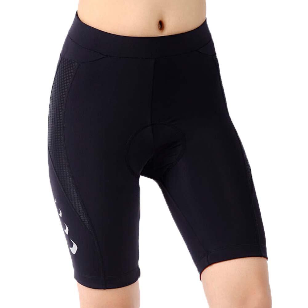 Women's Print Gel 3-D Padded Cycling Biking Short, Waist 28 Inch, Black PANDA SUPERSTORE PS-SPO2371086011-JACKY00774