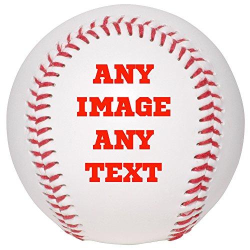 Personalized Custom Photo Baseball - Any Image - Any Text - Any -