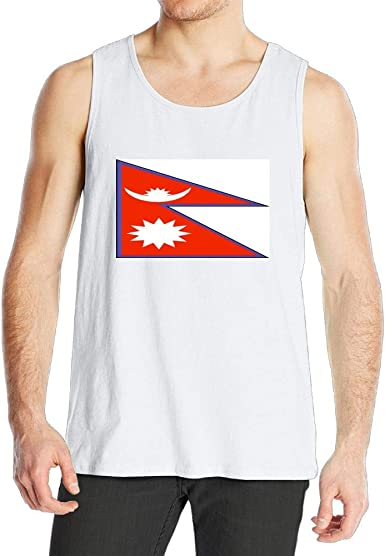 Amazon Com Xanbmen Fashion Tank Top Nepal Flag Men S Sports Tee Breathe Freely Summer Vest Clothing