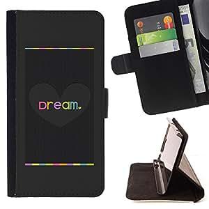 LOVE GREY BRUSHED DREAM HEART METAL/ Personalizada del estilo del dise???¡Ào de la PU Caso de encargo del cuero del tir????n del soporte d - Cao - For HTC DESIRE 816