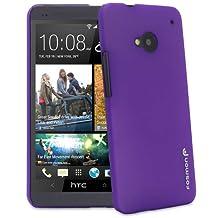Fosmon MATT Series (Translucent) Rubberized Hard Back Case Cover for HTC One 2013 / M7 (Purple)