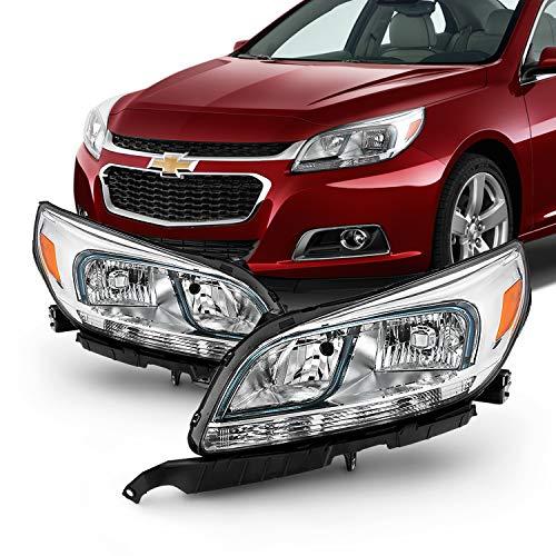Malibu Ltz Sedan - Fits 2013 2014 2015 Chevy Malibu LS 2016 Malibu Limited Sedan Halogen Headlight Driver Left+Passenger Right Pair