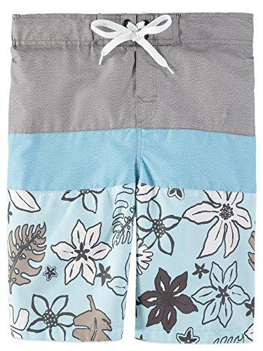 - Smith's American Color Blocked Stripes Swim Short (3T, Tropical Aqua)