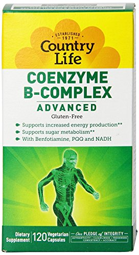 Country Life Coenzyme B Complex Advanced Capsules, 120 (Best Country Life B Vitamins)