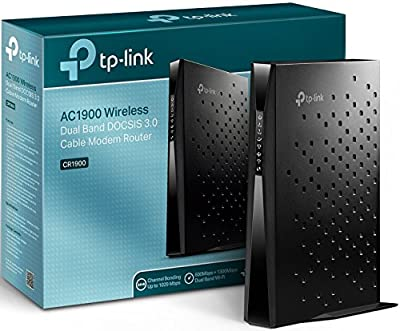 TP-Link AC1900 DOCSIS 3.0 (24x8) High Speed Cable Modem Router | Ideal for Cable Internet Plans 500Mbps and Above | Certified for XFINITY, Spectrum (CR1900)