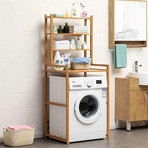BXU-BG ウォールシェルフオーバートイレ収納棚3フリースタンド型浴室の棚ストレージは竹装飾家具ホーム主催ラック(カラー:竹、サイズ:66 X 55 X 165センチメートルを)