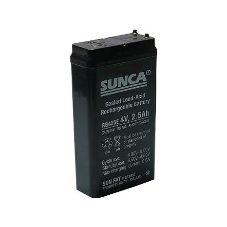 Nktronics Sunca 4 Volt 2.5amp 2500Mah Sealed Lead Acid Type recargeable Battery Pack of 1 pcs