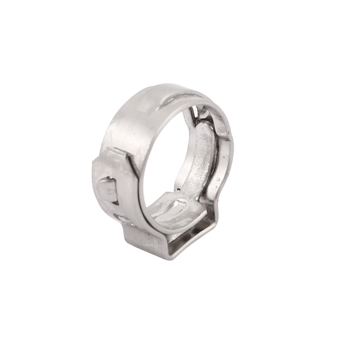 uxcell 8.8mm-10.5mm 304 Stainless Steel Adjustable Tube Hose Clamps Silver Tone 50pcs