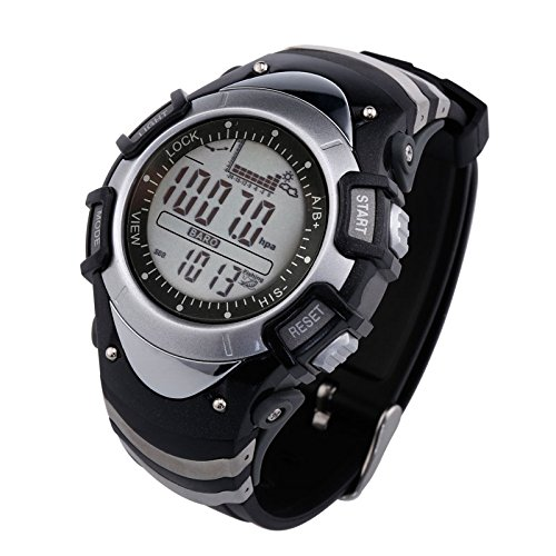 Sunroad FX704 A pesca hombres reloj redondo multifunción Digital Pesca barómetro termómetro altímetro reloj deportes al aire libre reloj: Amazon.es: Relojes