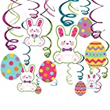 Easter Multicolored Foil Paper Swirls, Mega Value Pack, 30 Ct. | Party Decoration