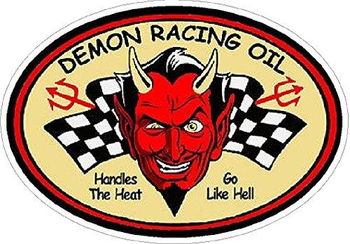 Demon Racing Oil Vintage Drag Racing Window Bumper sticker decal NHRA Rat Rod Street -