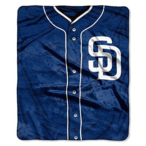 The Northwest Company MLB San Diego Padres Jersey Plush Raschel Throw, 50