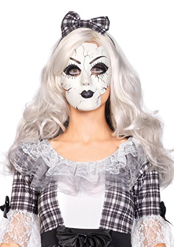 [2757 Porcelain Doll Mask Replica Plastic] (Day Of The Dead Doll Costumes)