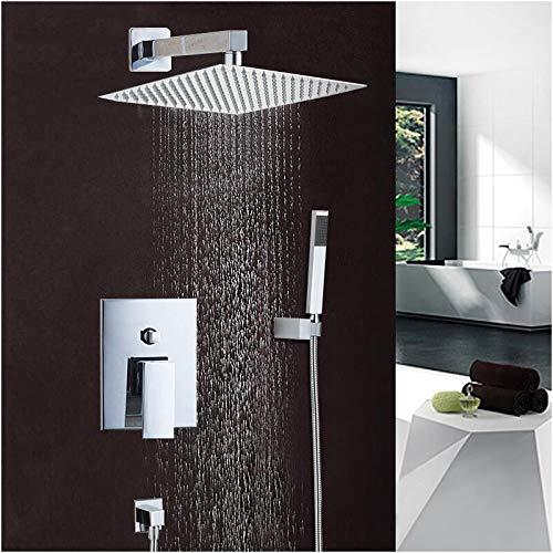 Shower Set Chrome-Finished Bathtub Faucet Shower Faucet