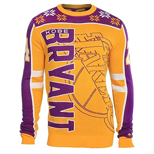 Los Angeles Lakers Kobe Bryant #24 Crewneck NBA Ugly Sweater S