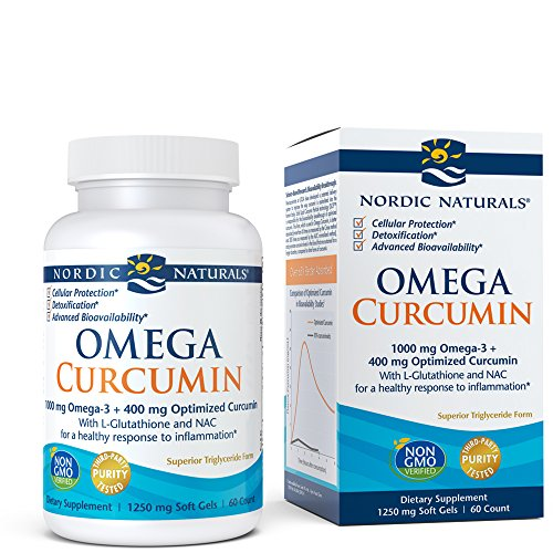 Antioxidant Cellular (Nordic Naturals Omega Curcumin - Cellular Level Protection, Antioxidant and Anti-Inflammatory, 60 Soft Gels)