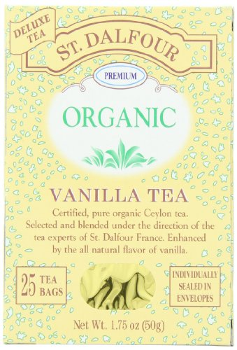 (ST. DALFOUR Organic Tea, Vanilla, Tea Bags, 25-Count Box (Pack of 6))