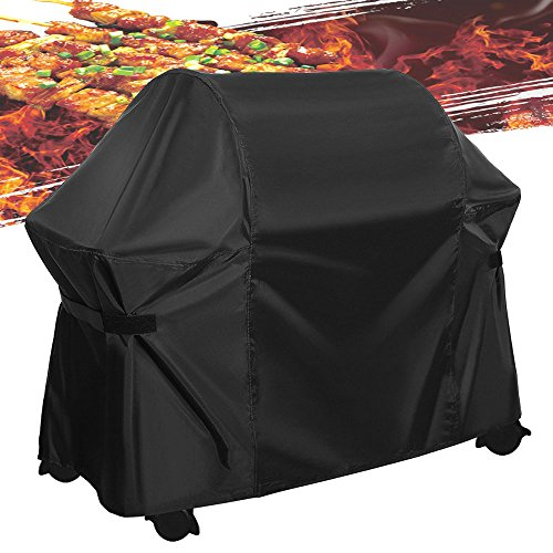 Grill Cover Medium 60 Inch BBQ Cover Heavy Duty Waterproof Weather Outdoor Patio Barbecue Gas Grill Cover