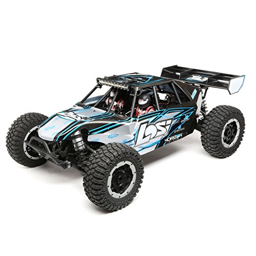 - Losi DBXL-E 1/5 Scale 4WD RC Desert Buggy BL Electric RTR with DX2E 2.4GHz Radio Tx and 4-Ch DSMR AVC Receiver (Battery and Charger Not Included), LOS05012T2 (Grey/Blue)