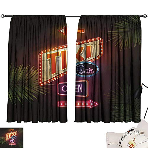 Grommet Curtains Tiki Bar,Neon Sign Design 54