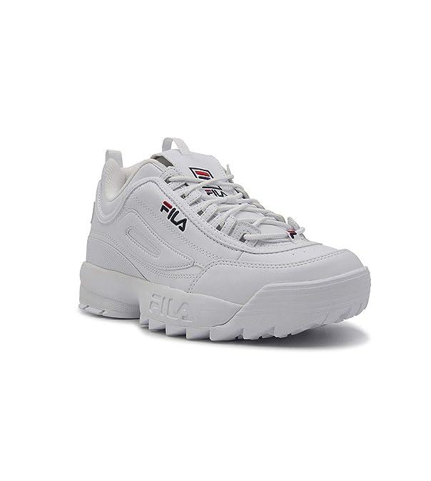0e42d20bd384 Fila Homme 10102621FG Blanc Cuir Baskets  Amazon.fr  Chaussures et Sacs