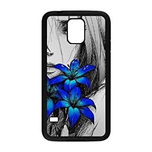 Customized Durable Case for SamSung Galaxy S5 I9600, Art Design Of Girl Phone Case - HL-R673864