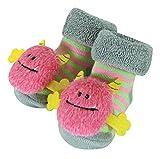 monster feet socks - Stephan Baby Rattle Socks, Pink Monsters, 3-12 Months