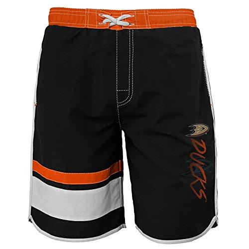 Anaheim Ducks Pool - Outerstuff NHL Anaheim Ducks Youth Boys 8-20 Swim Trunk, Large (14-16), Black