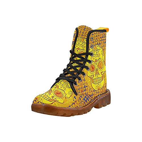 Leinterest Cool Skull Martin Boots Fashion Shoes Voor Dames